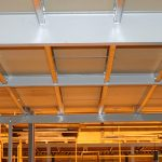Beams on a mezzanine floor