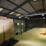 mezzanine floor in a warehouse