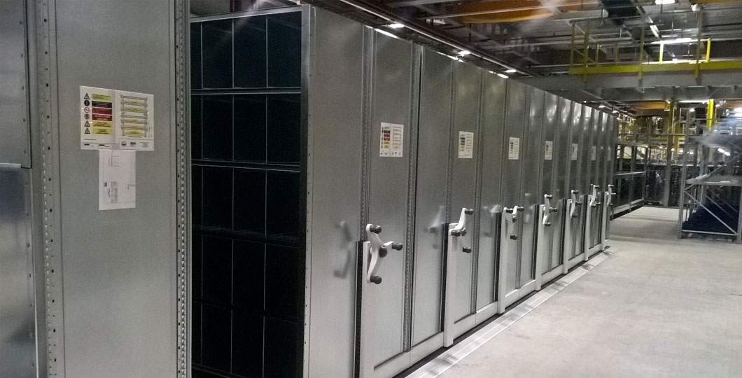 Dexion Mobile Shelving and Dexion Racking with Pull Out Units