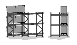 Dexion P90 Push back racking graphic