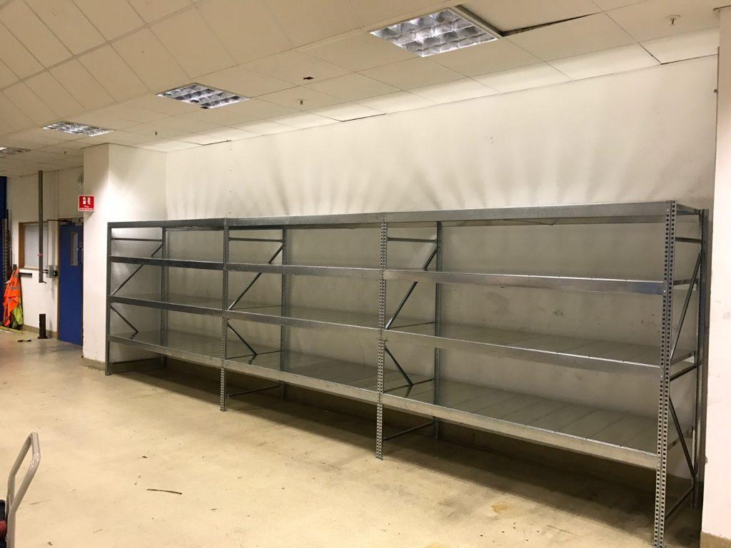galvanised steel shelving case study