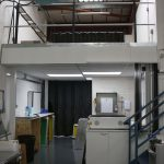 Mezzanine Floor With Work Space Underneath.
