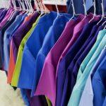 workwear on hanger racking system