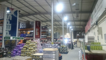 Warehouse Green LED Lighting System