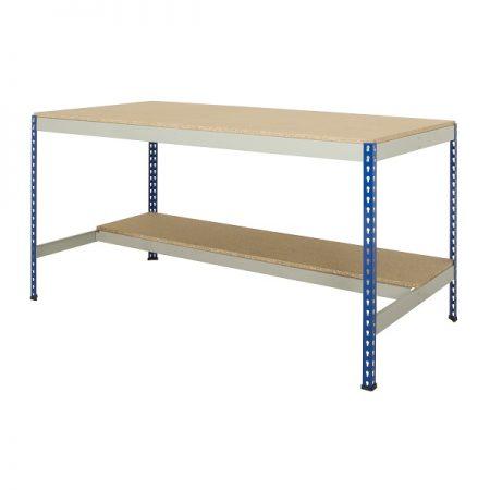 Rivet Workbench With Half Under shelf