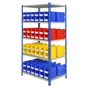 Shelving With Storage Bins